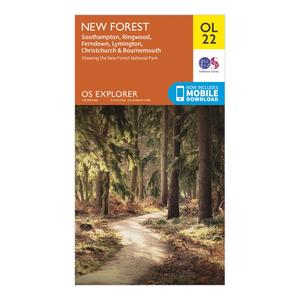 ORDNANCE SURVEY Explorer OL 22 New Forest Map