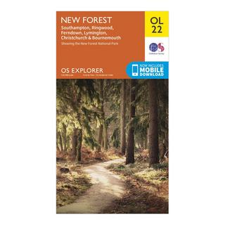 Explorer OL22 New Forest Map With Digital Version