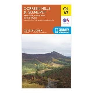 OL 62 Explorer Coreen Hills & Glenlivet Map