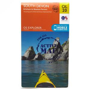 ORDNANCE SURVEY OL 20 Explorer South Devon Active Map