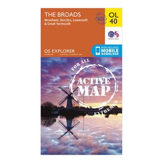 OL 40 Explorer The Broads Active Map