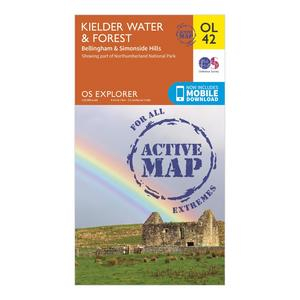 ORDNANCE SURVEY OL 42 Explorer Kielder Water & Forest Active Map