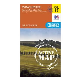 Explorer Active OL32 Winchester, New Alresford & East Meon Map With Digital Version