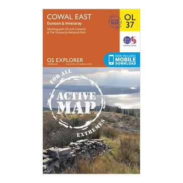 N/A Ordnance Survey Explorer Active OL37 Cowal East Dunoon & Inveraray Map With Digital Version