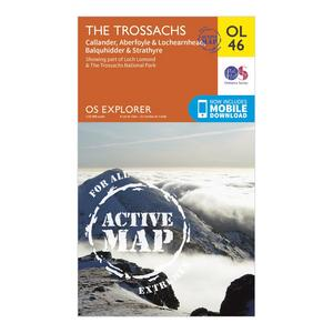 ORDNANCE SURVEY Active Explorer OL 46 The Trossachs Map