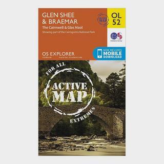 Explorer Active OL52 Glen Shee & Braemar Map With Digital Version