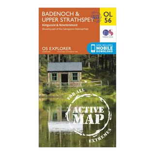 Explorer Active OL56 Badenoch & Strathspey Map With Digital Version
