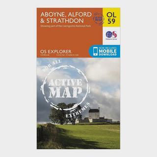 Explorer OL 59 Active D Aboyne, Alford & Strathdon Map