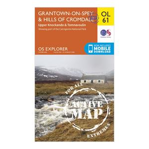 ORDNANCE SURVEY Explorer OL 61 Active D Grantown-on-Spey & Hills of Cromdale Map