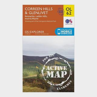 Explorer OL 62 Active D Coreen Hills & Glenlivet Map