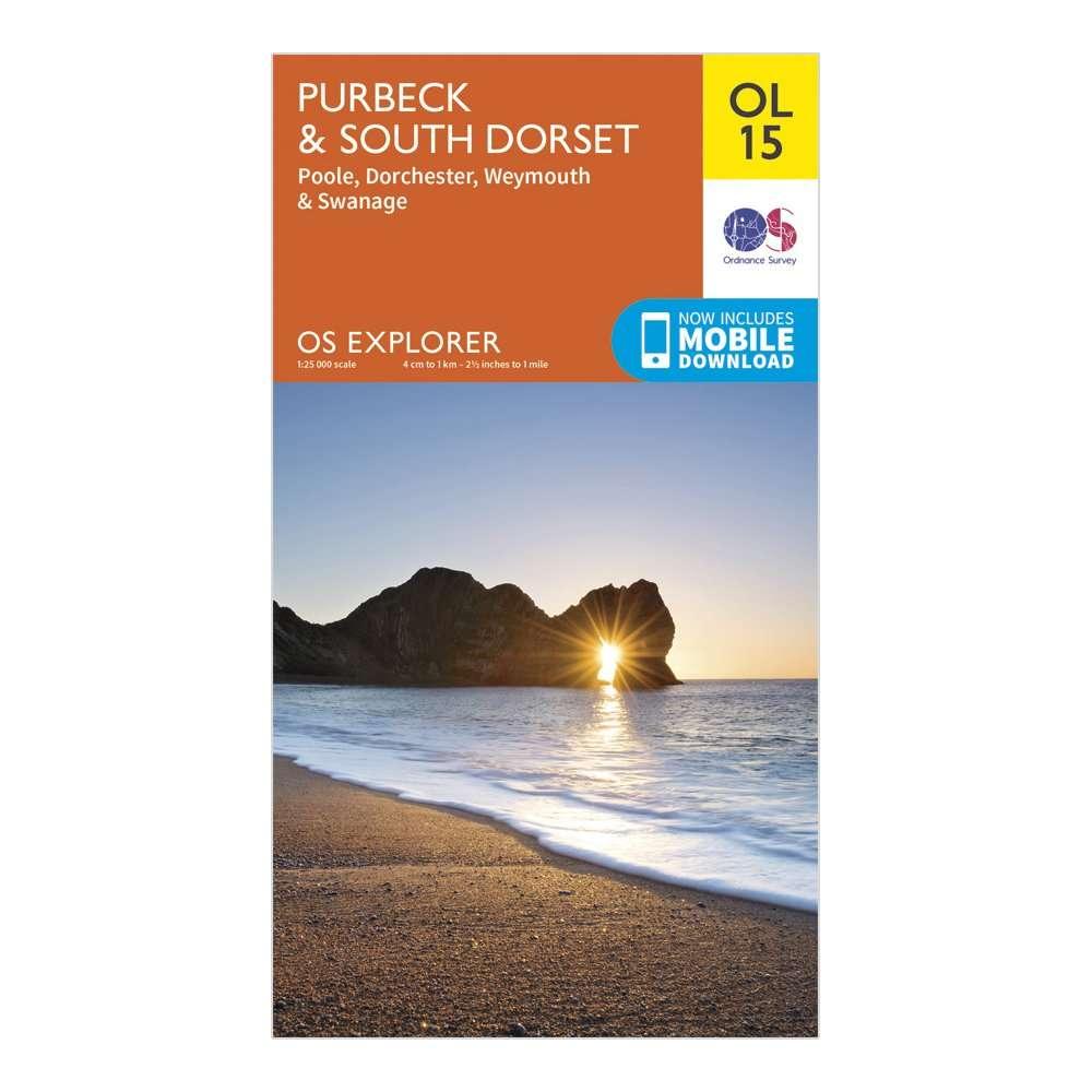 ORDNANCE SURVEY Explorer OL15 Purbeck & South Dorset Map With Digital Version