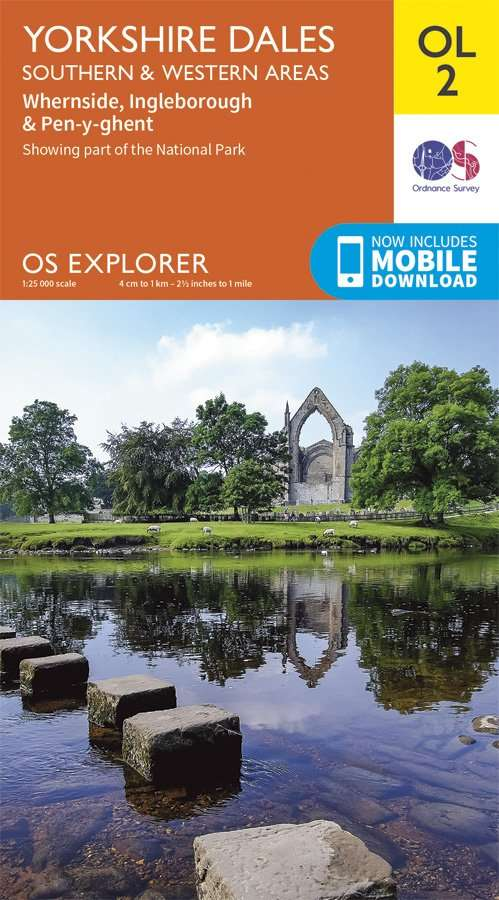 ORDNANCE SURVEY Explorer OL2 Yorkshire Dales - Southern & Western Areas Map With Digital Version