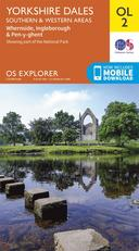 Orange ORDNANCE SURVEY Explorer OL 2 Yorkshire Dales - Southern & Western Areas Map image 1