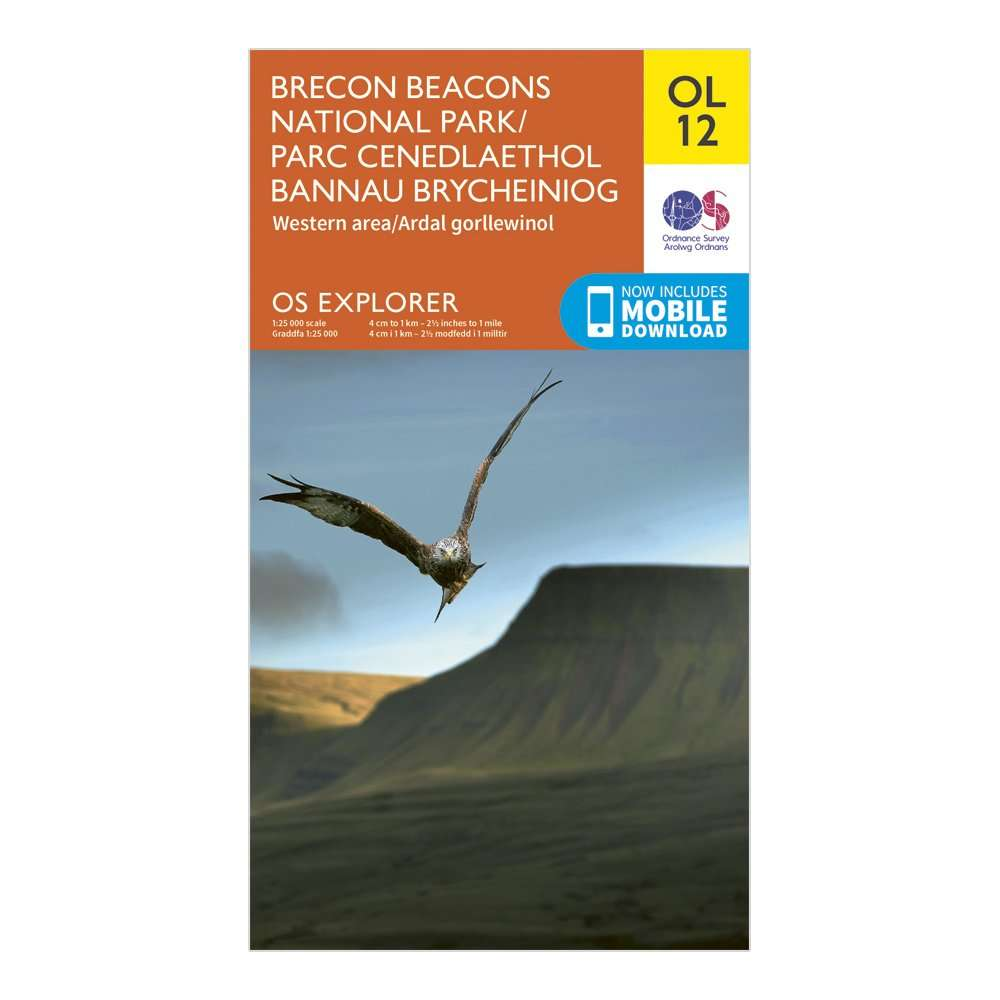 ORDNANCE SURVEY Explorer OL12 Brecon Beacons National Park - Western & Central Areas Map With Digital Version