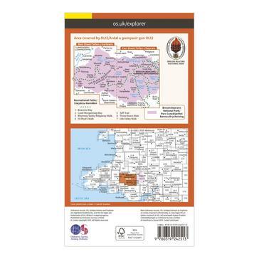 Orange Ordnance Survey Explorer OL12 Brecon Beacons National Park - Western & Central Areas Map With Digital Version