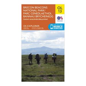 ORDNANCE SURVEY Explorer OL 13 Brecon Beacons National Park - Eastern Area Map