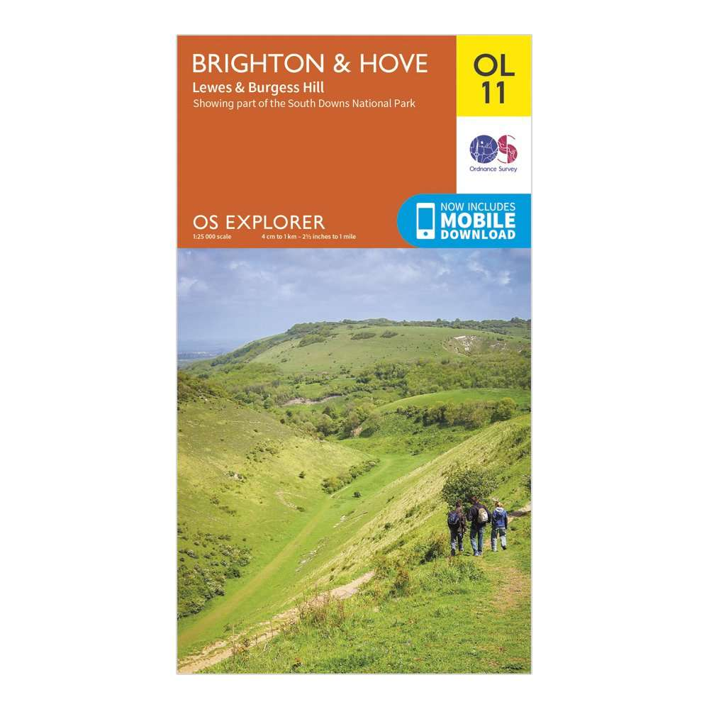 ORDNANCE SURVEY Explorer OL11 Brighton & Hove Map With Digital Version