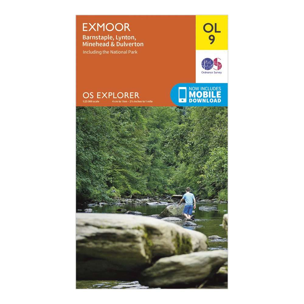 ORDNANCE SURVEY Explorer OL 9 Exmoor Map
