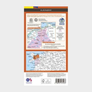 Orange Ordnance Survey Explorer Active OL17 Snowdon & Conwy Valley Map With Digital Version