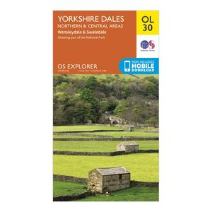 ORDNANCE SURVEY Explorer OL 30 Yorkshire Dales (Northern & Central Area) Map