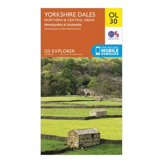 Explorer OL 30 Yorkshire Dales (Northern & Central Area) Map