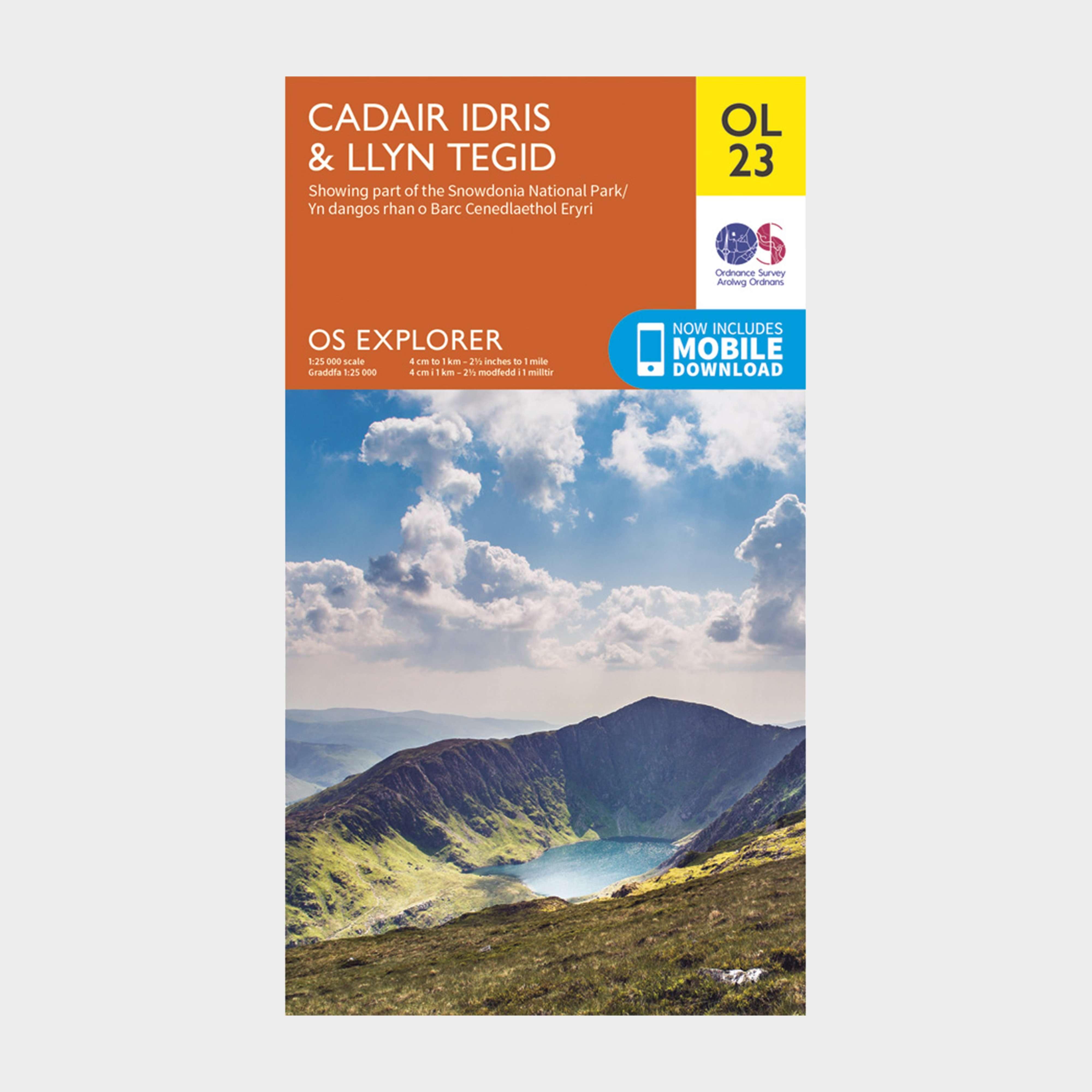 ORDNANCE SURVEY Explorer OL23 Cadair Idris & Llyn Tegid Map With Digital Version