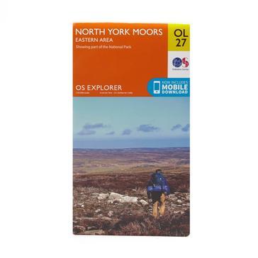 Orange Ordnance Survey Explorer OL27 North York Moors - Eastern Area Map With Digital Version