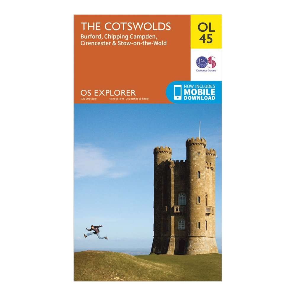 ORDNANCE SURVEY Explorer OL 45 The Cotswolds Map