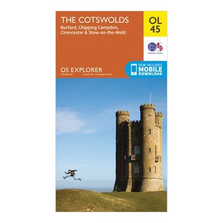 Explorer OL 45 The Cotswolds Map
