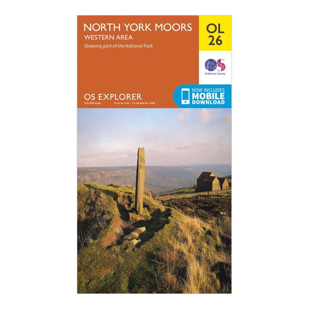ORDNANCE SURVEY Explorer OL26 North York Moors - Western Area Map With Digital Version