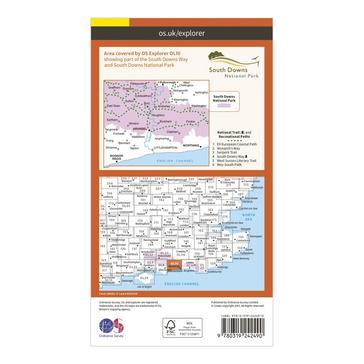 Orange Ordnance Survey Explorer OL 10 Arundel & Pulborough Map