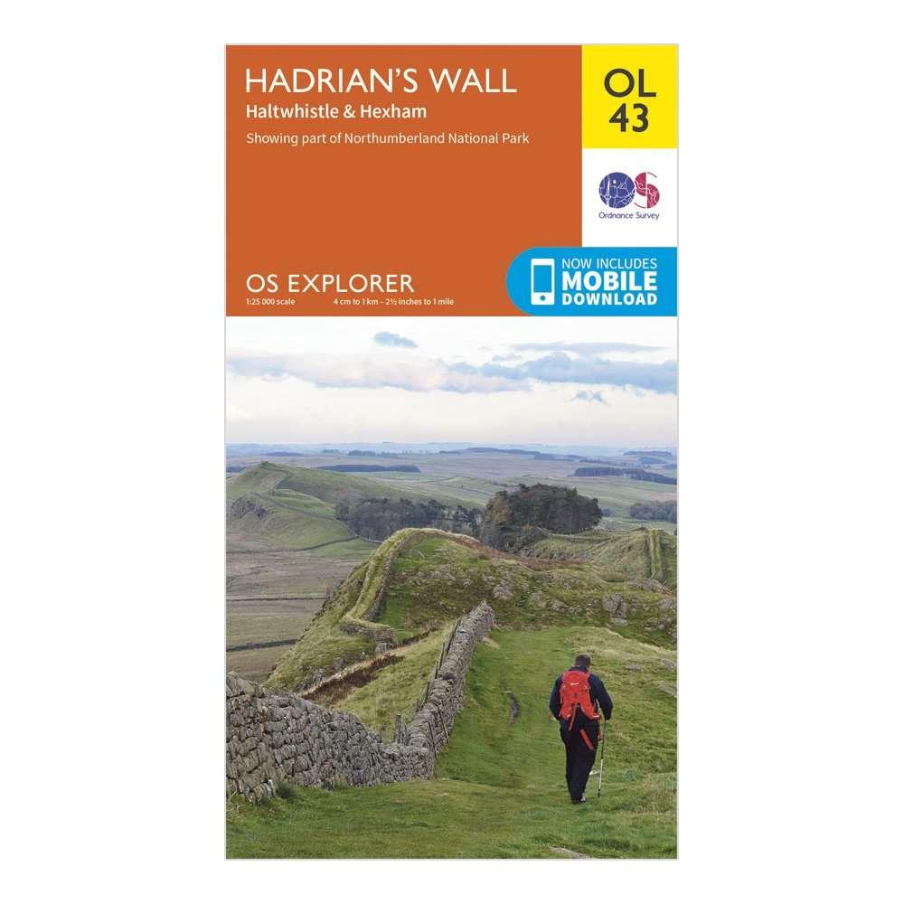 ORDNANCE SURVEY Explorer OL 43 Hadrian's Wall Map