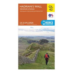 ORDNANCE SURVEY Explorer OL 43 Hadrian's Wall Map