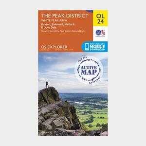 ORDNANCE SURVEY Active Explorer OL 24 The Peak District (White Peak Area) Map