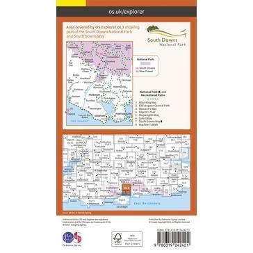 Orange Ordnance Survey Explorer OL 3 Meon Valley Map
