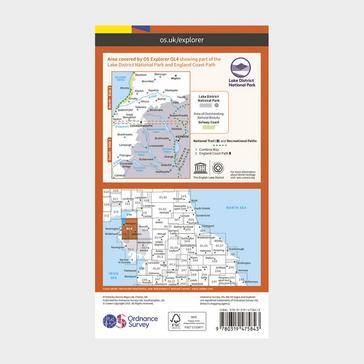 Orange Ordnance Survey Explorer Active OL4 The English Lakes - North Western Area Map With Digital Version