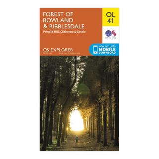 Explorer OL41 Forest of Bowland & Ribblesdale Map With Digital Version