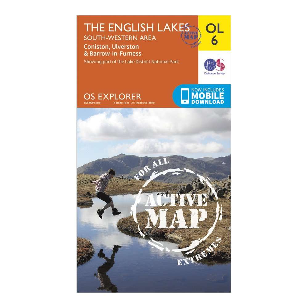 ORDNANCE SURVEY Explorer Active OL6 The English Lakes - South Western Area Map With Digital Version