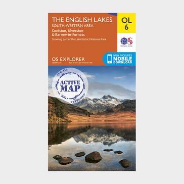 Orange Ordnance Survey Explorer Active OL6 The English Lakes - South Western Area Map With Digital Version