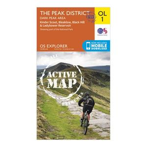 ORDNANCE SURVEY Explorer Active OL1 The Peak District - Dark Peak Area Map