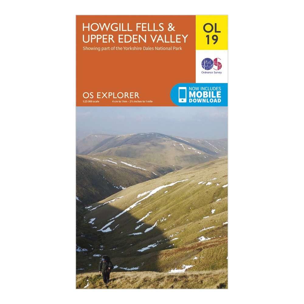 ORDNANCE SURVEY Explorer OL19 Howgill Fells & Upper Eden Valley Map With Digital Version