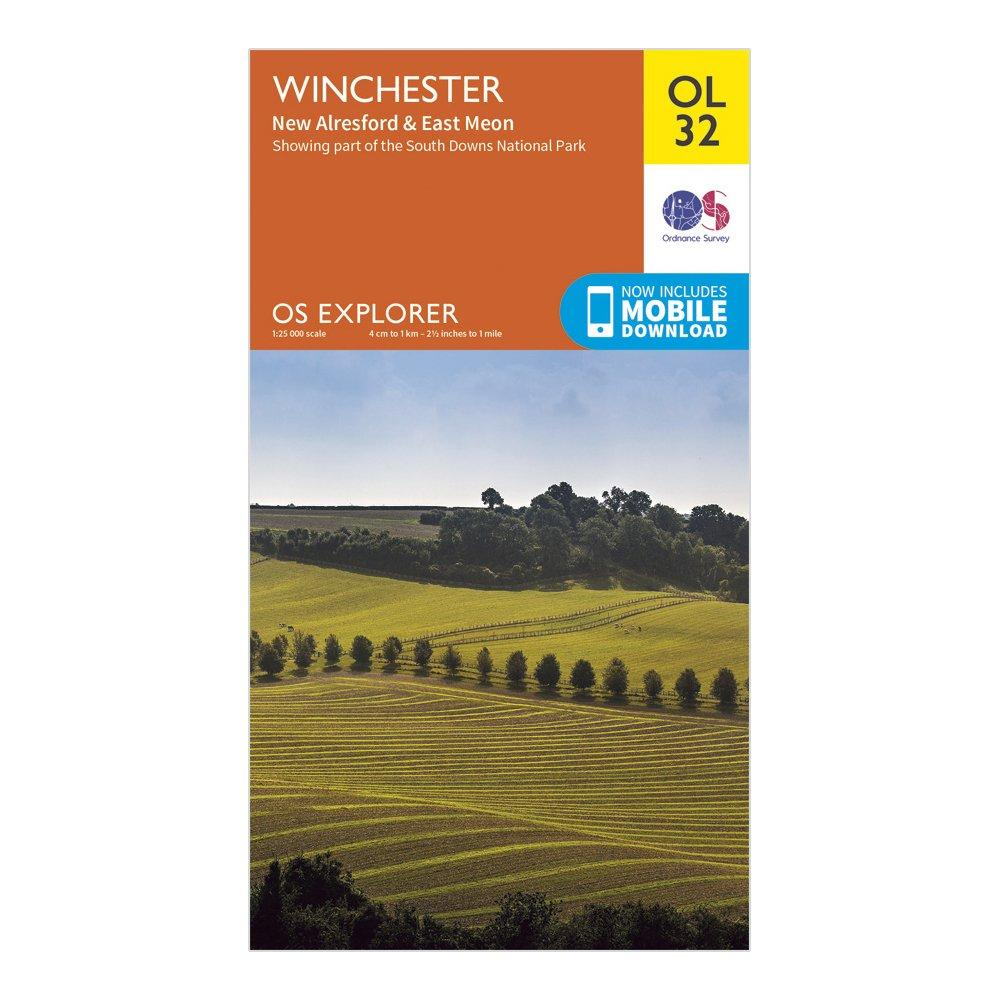 Ordnance Survey Explorer OL 32 Winchester, New Alresford & East Meon Map, N/A