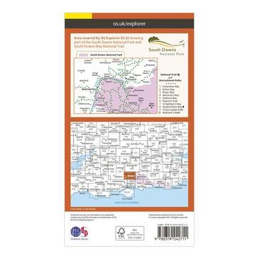 Orange Ordnance Survey Explorer OL 32 Winchester, New Alresford & East Meon Map