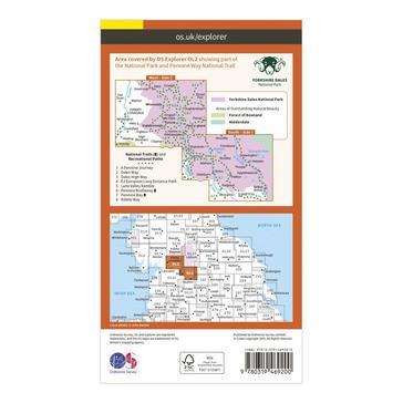 Orange Ordnance Survey Explorer Active OL2 Yorkshire Dales - Southern & Western Areas Map With Digital Version