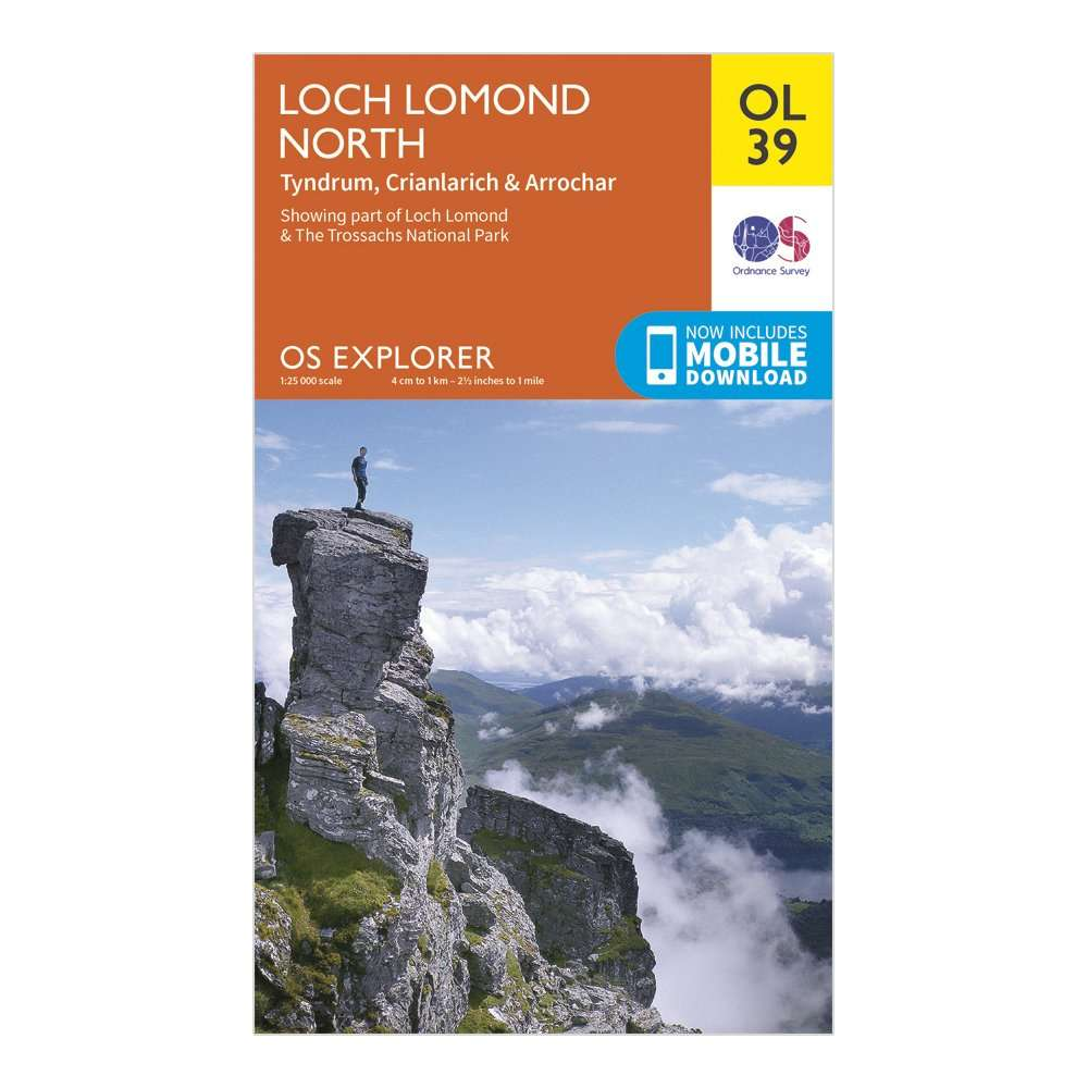 ORDNANCE SURVEY Explorer OL39 Loch Lomond North Map With Digital Version