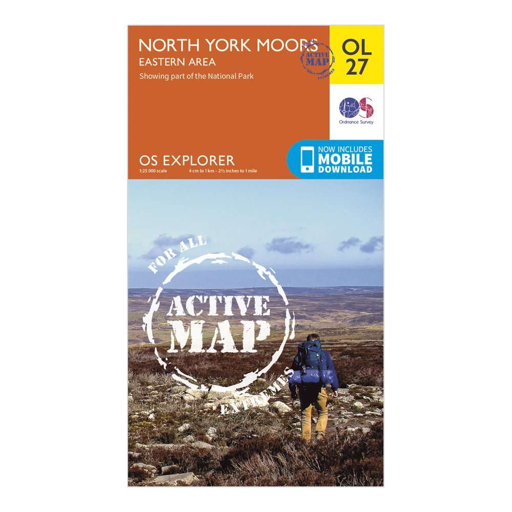 ORDNANCE SURVEY Explorer Active OL 27 North York Moors - Eastern Area Map