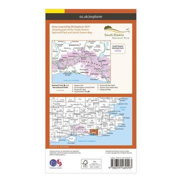 Orange Ordnance Survey Explorer Active OL11 Brighton & Hove Map With Digital Version