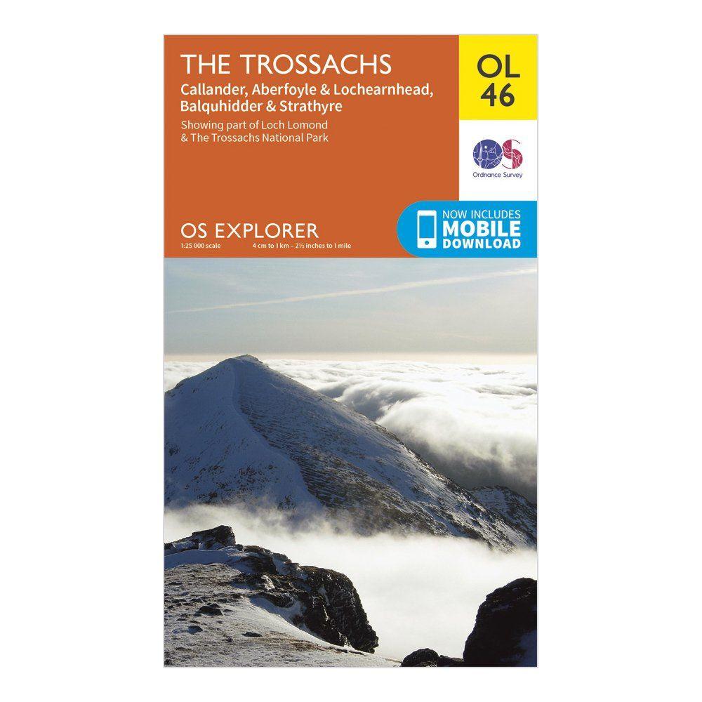 ORDNANCE SURVEY Explorer OL 46 The Trossachs Map