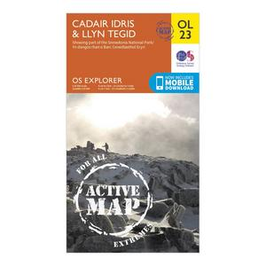 ORDNANCE SURVEY Explorer Active OL 23 Cadair Idris & Llyn Tegid Map