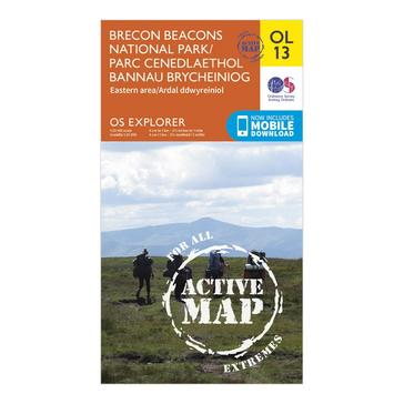 Orange Ordnance Survey Explorer Active Brecon Beacons National Park - Eastern Area Map With Digital Version
